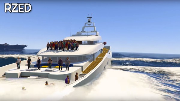 Can 100 People Sink A Yacht In GTA V?