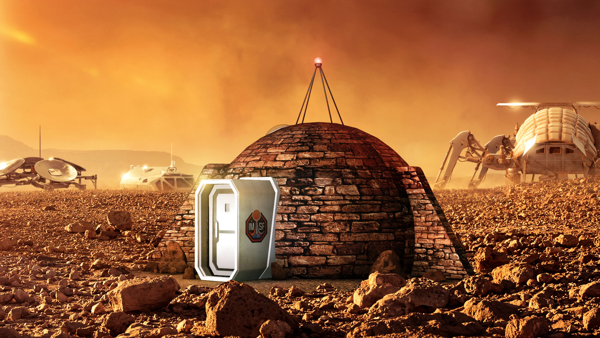 The First Mars Homes Could