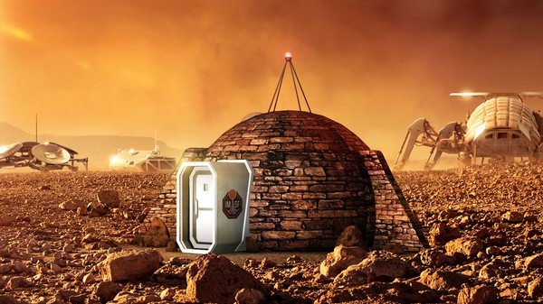 The First Mars Homes Could Look Like Red Space Igloos