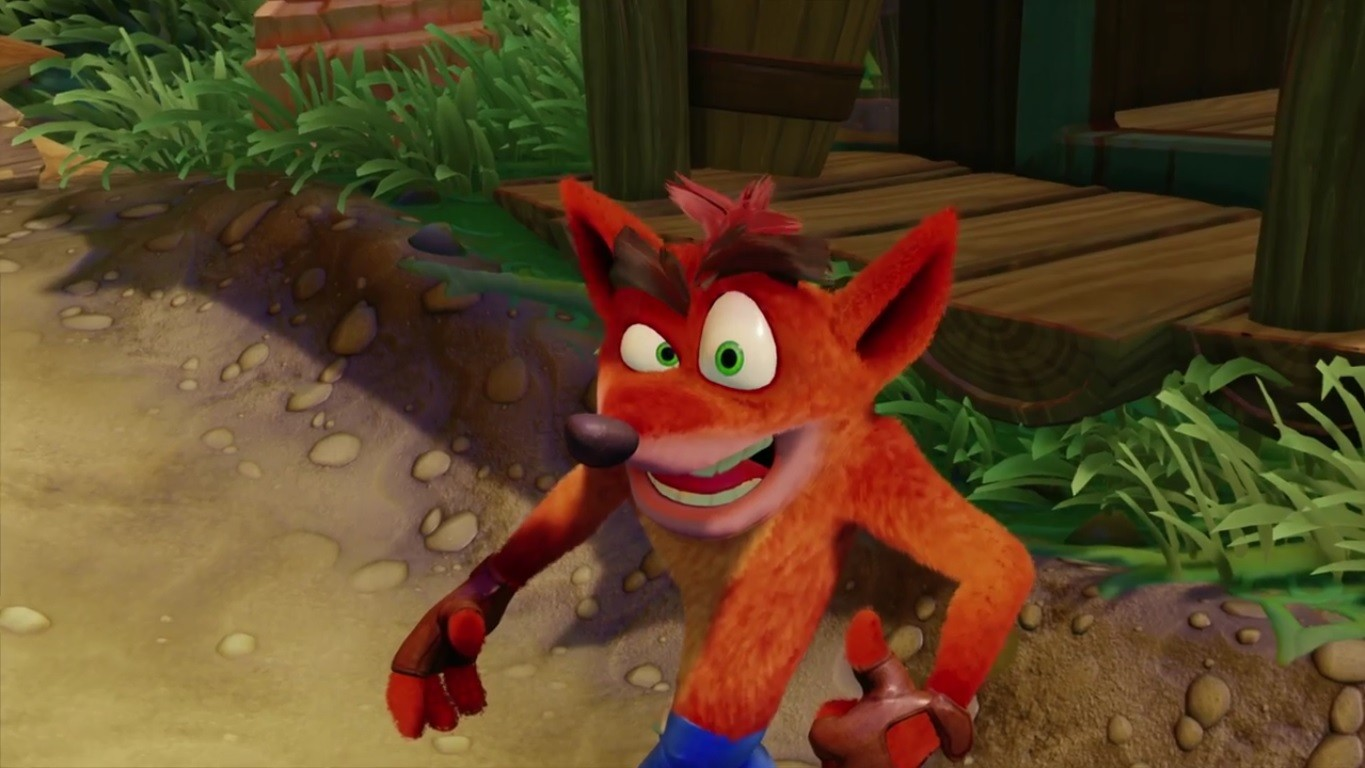 Crash Bandicoot's Jeans Look Super Realistic in Remastered Trilogy