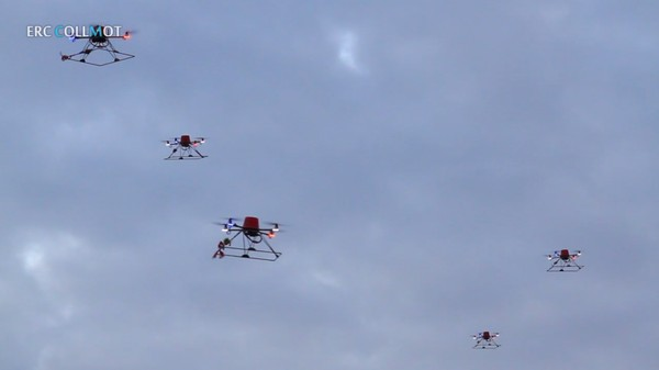 Drones Are Now Flying in Flocks
