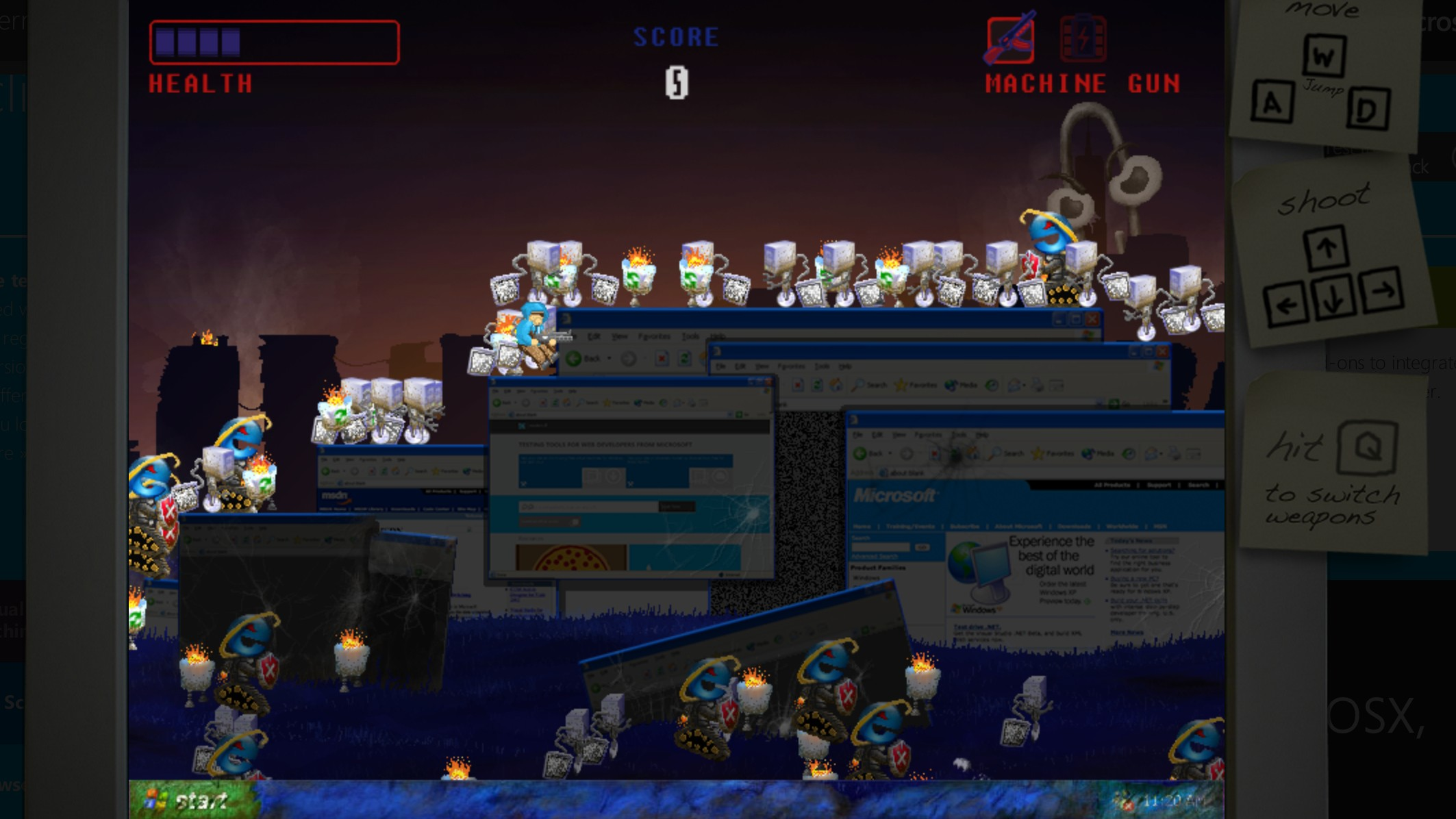 Kill Windows XP Once and For All in Microsoft's New Browser Game