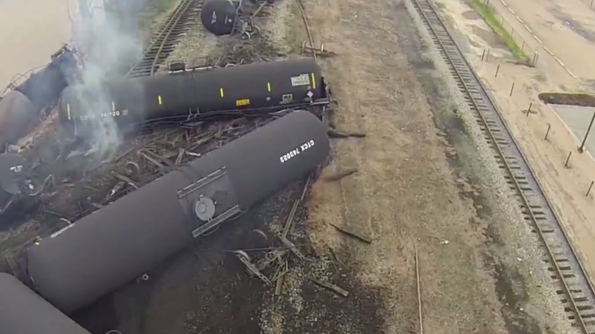 A Drone's Eye View of the Latest Oil Train Explosion