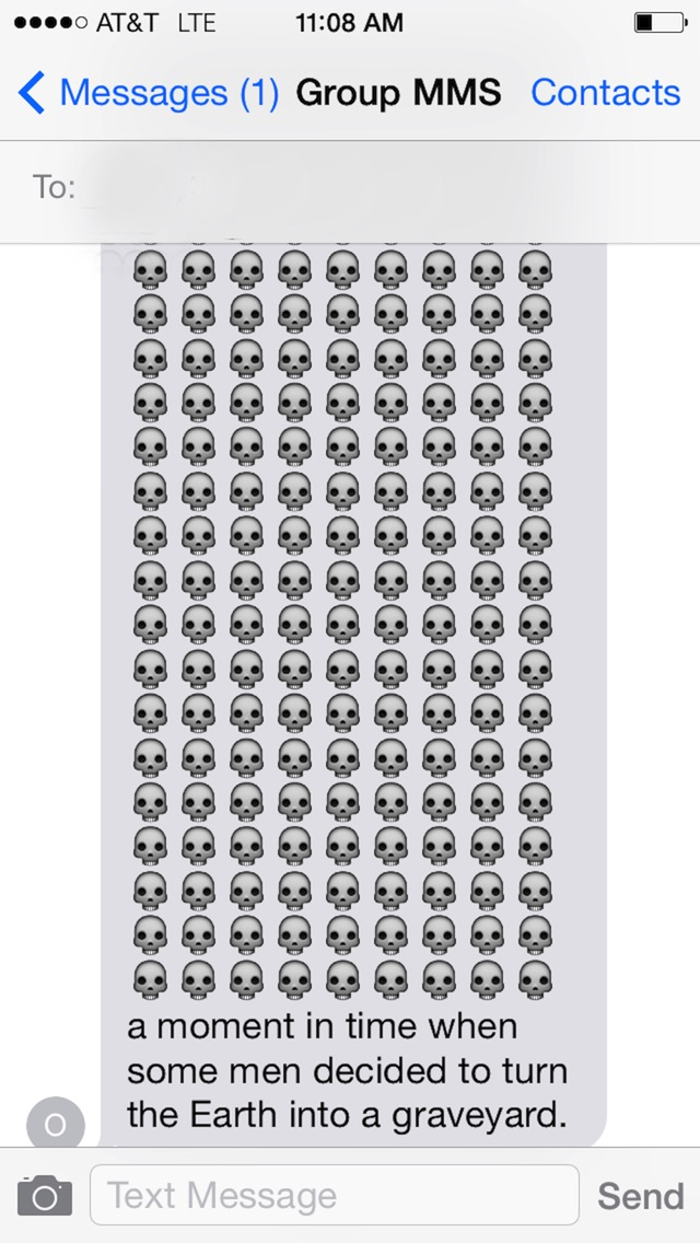 What we really mean when we text 150 identical emoji in a row