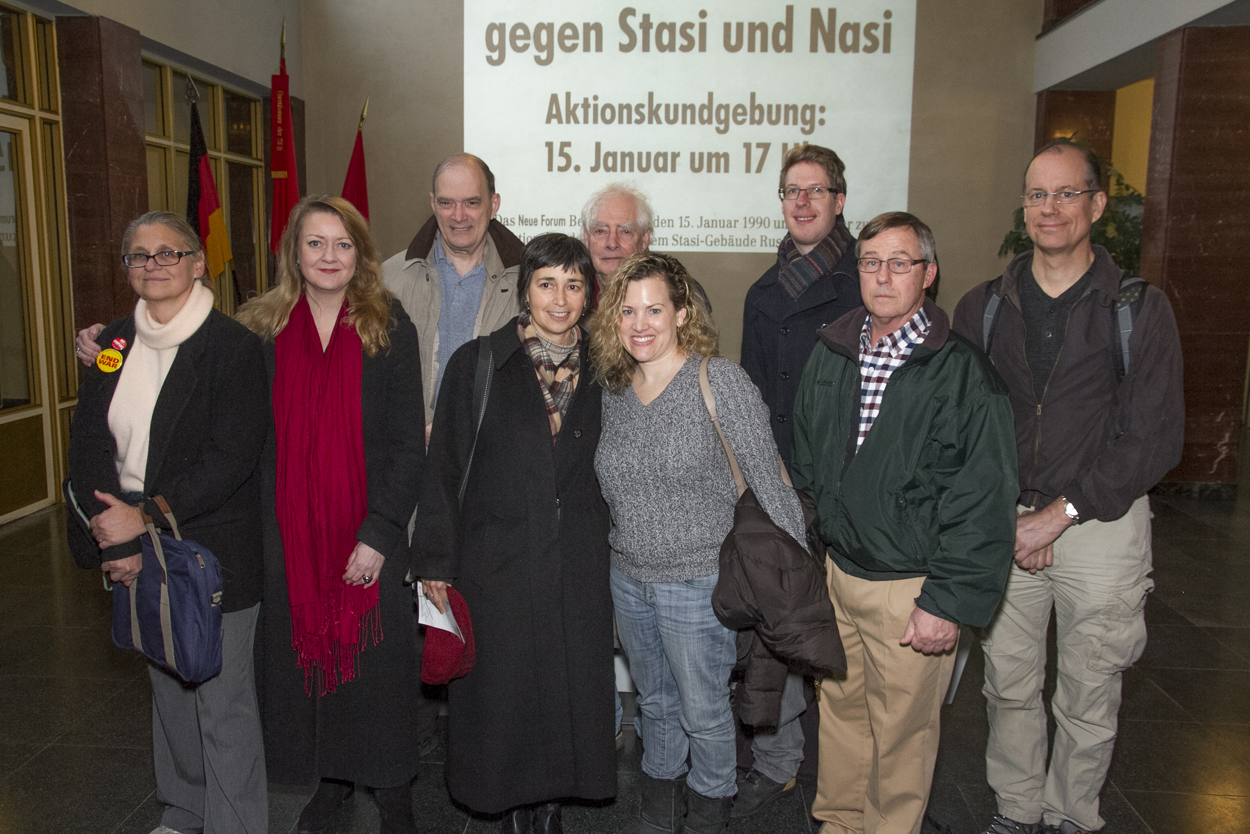 Group tour of Stasi Museum, Image: Niels Ladefoged