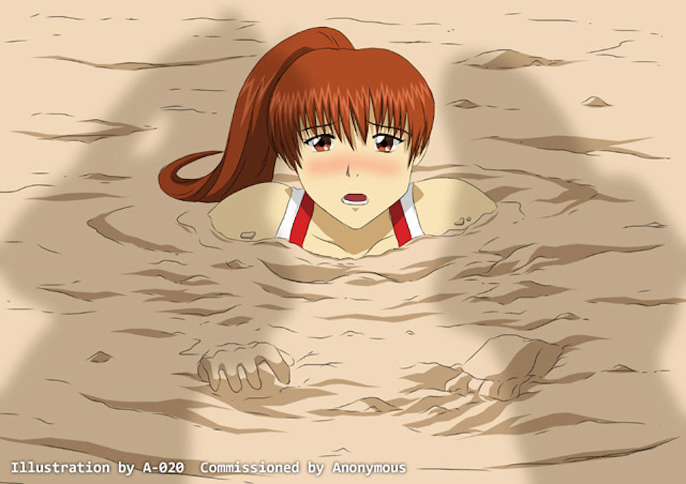 Lesbians drowning in quicksand