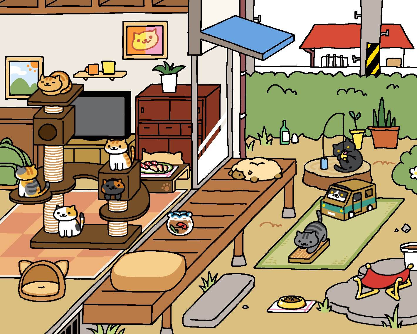 this adorable japanese cat game is everywhere and we tried to