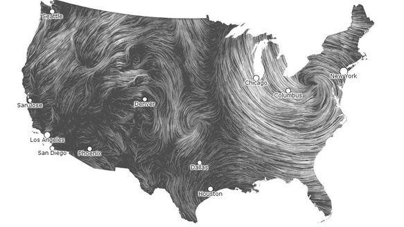 This Data Visualization of America's Wind Is Beautiful