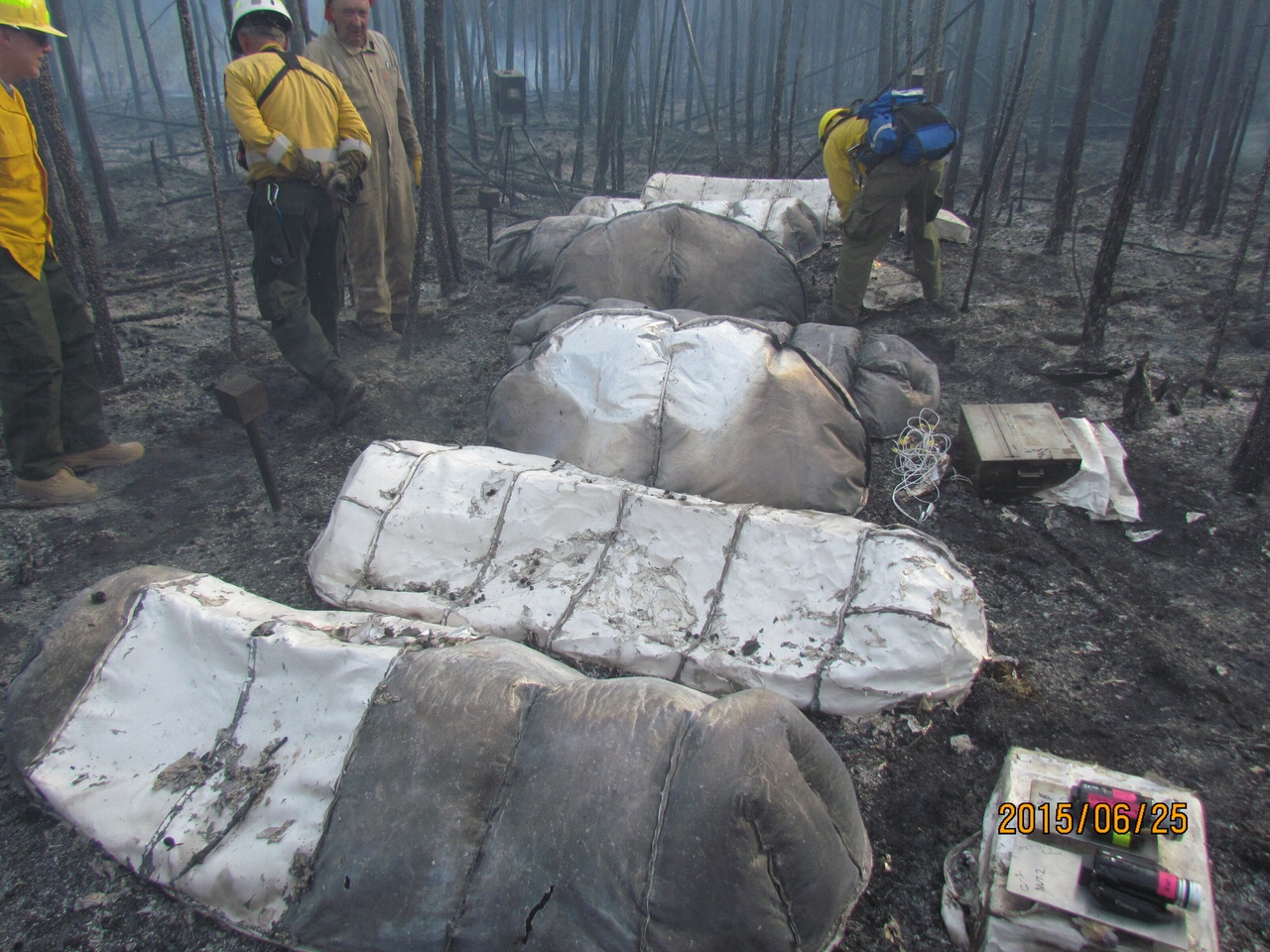 NASA Is Testing Next-Generation Fire Shelters at a Burn Site In Northern Canada & NASA Is Testing Next-Generation Fire Shelters at a Burn Site In ...