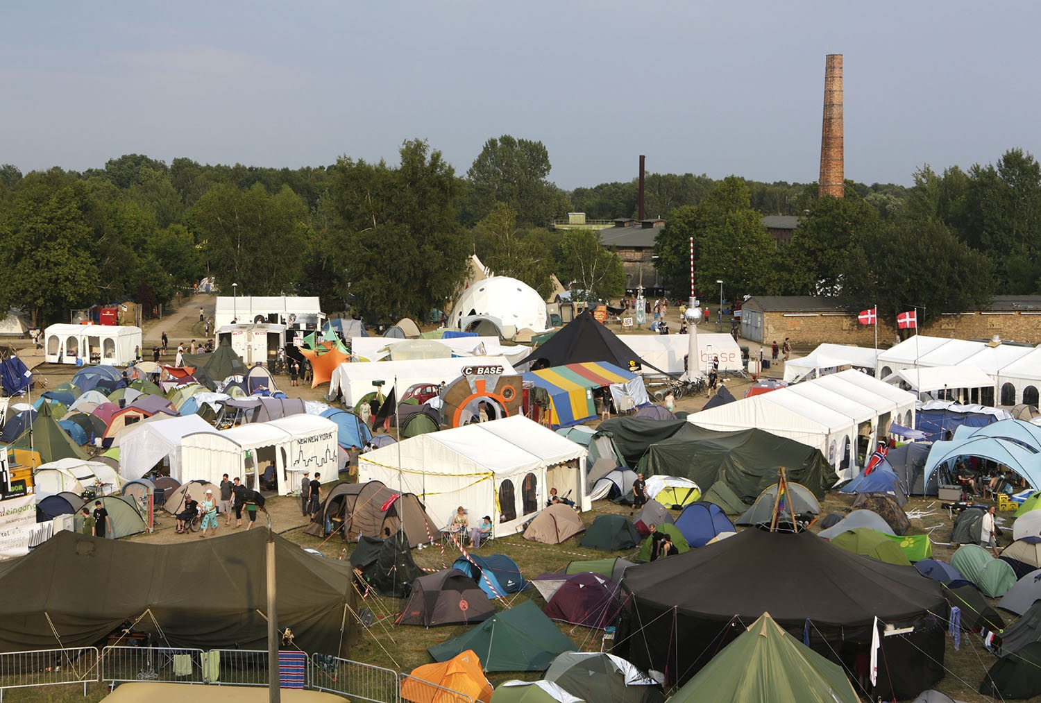 View of the c&grounds from the Brahma Gupta-rail. Photo Julia Sinkowicz/Motherboard & Hacker Tent City: a Photo Tour of Chaos Communication Camp 2015 ...