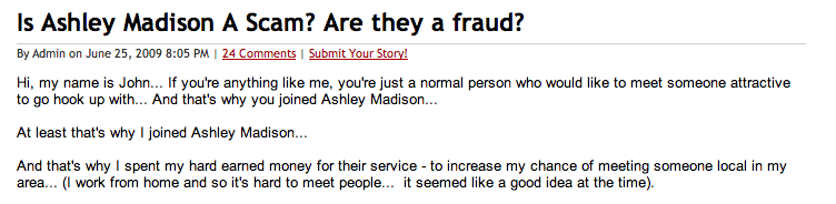 Ashley Madison hook up