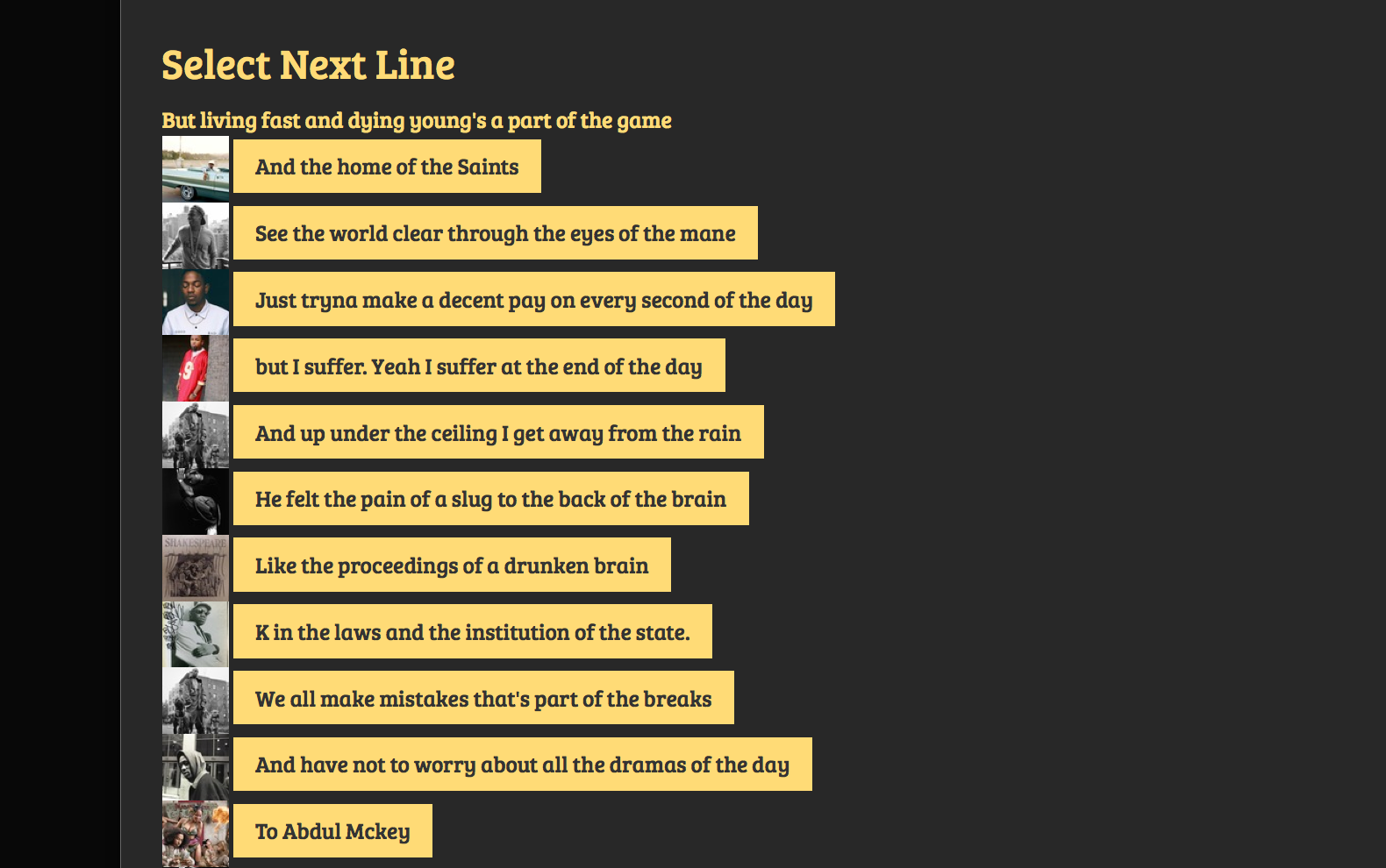Make Your Own Lyrics With This Artificial Intelligence Rap Bot Vice