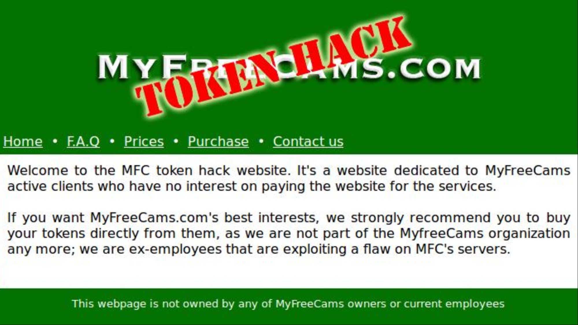 Free tokens myfreecams