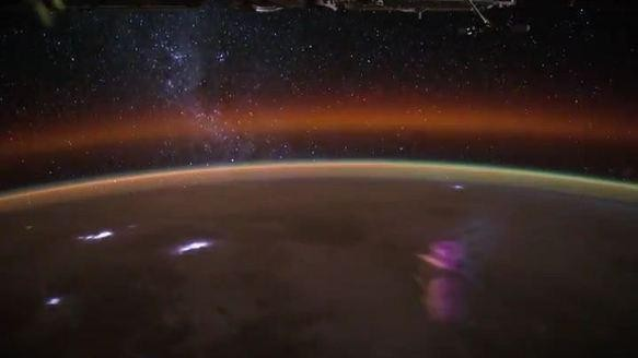 The International Space Station Passed over Stormy Africa with a Video Camera