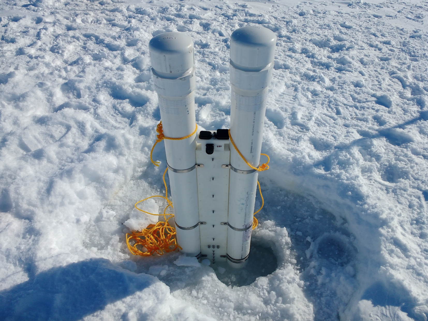 inuit are embedding sensors in the ice because it u0027s getting