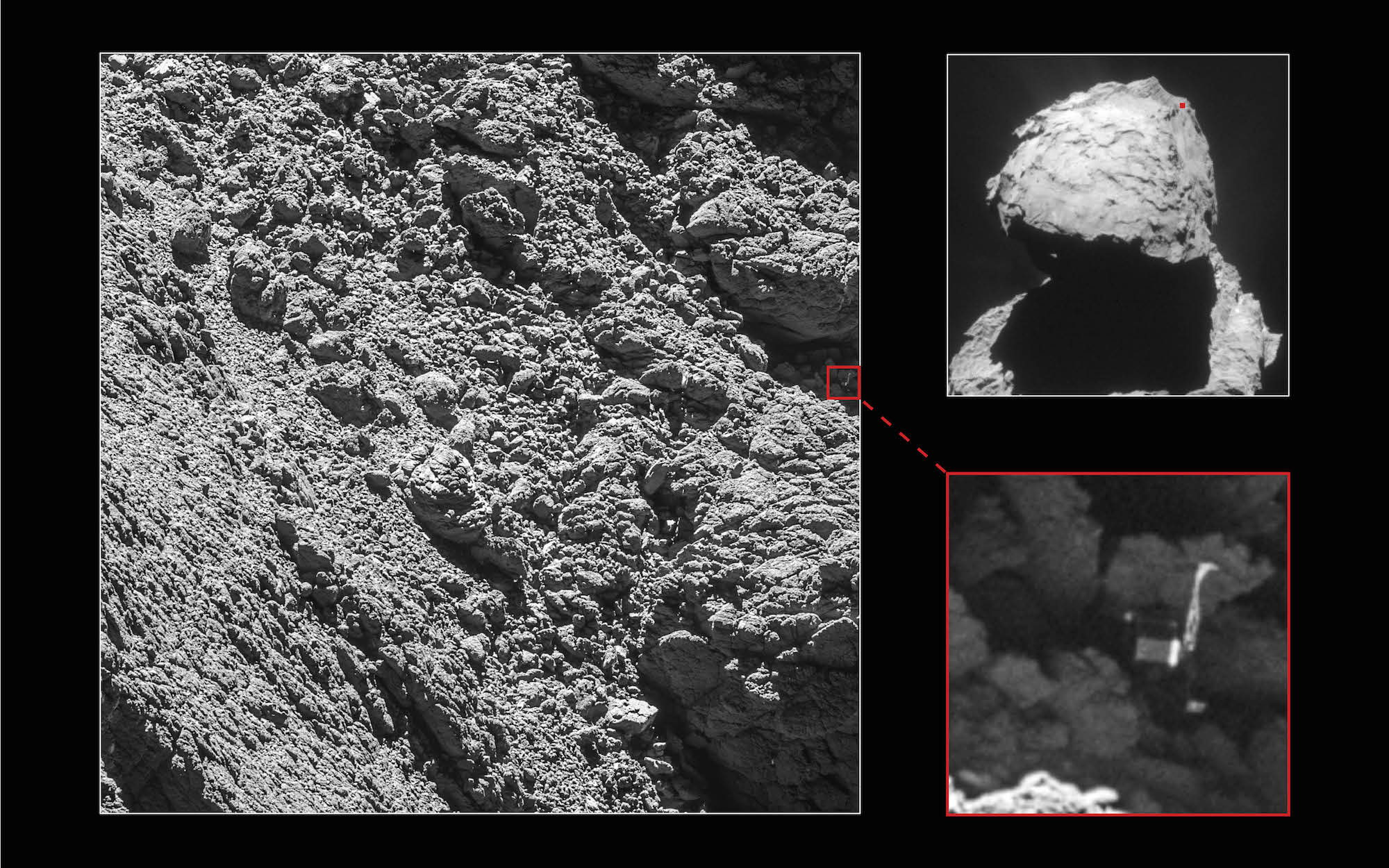 ESA: Rosetta space probe finds lost Philae lander on comet