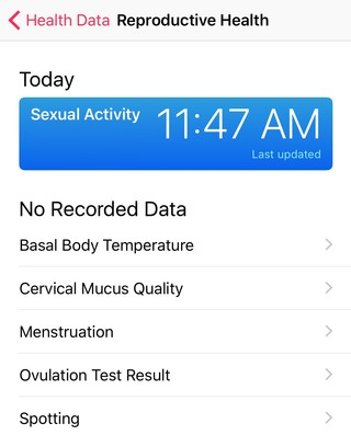 sex tracking app for iphone