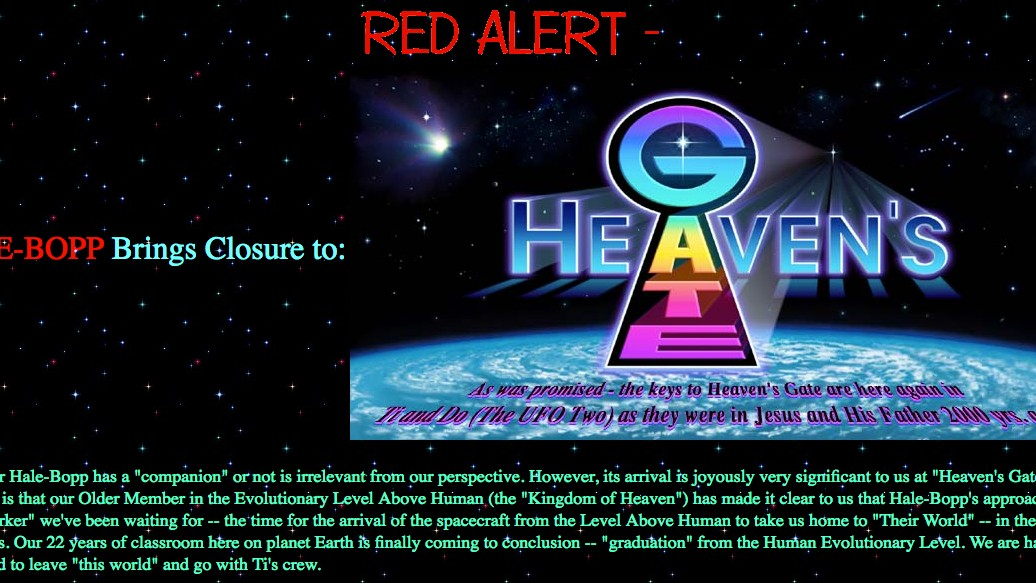 an overview of the mass suicide of heavens gate cult on march 26 1997 Marshall herff applewhite, jr was the founder and leader of heaven's gate, an  ufo-based cult that performed a mass suicide in  march 26, 1997 (aged 65).