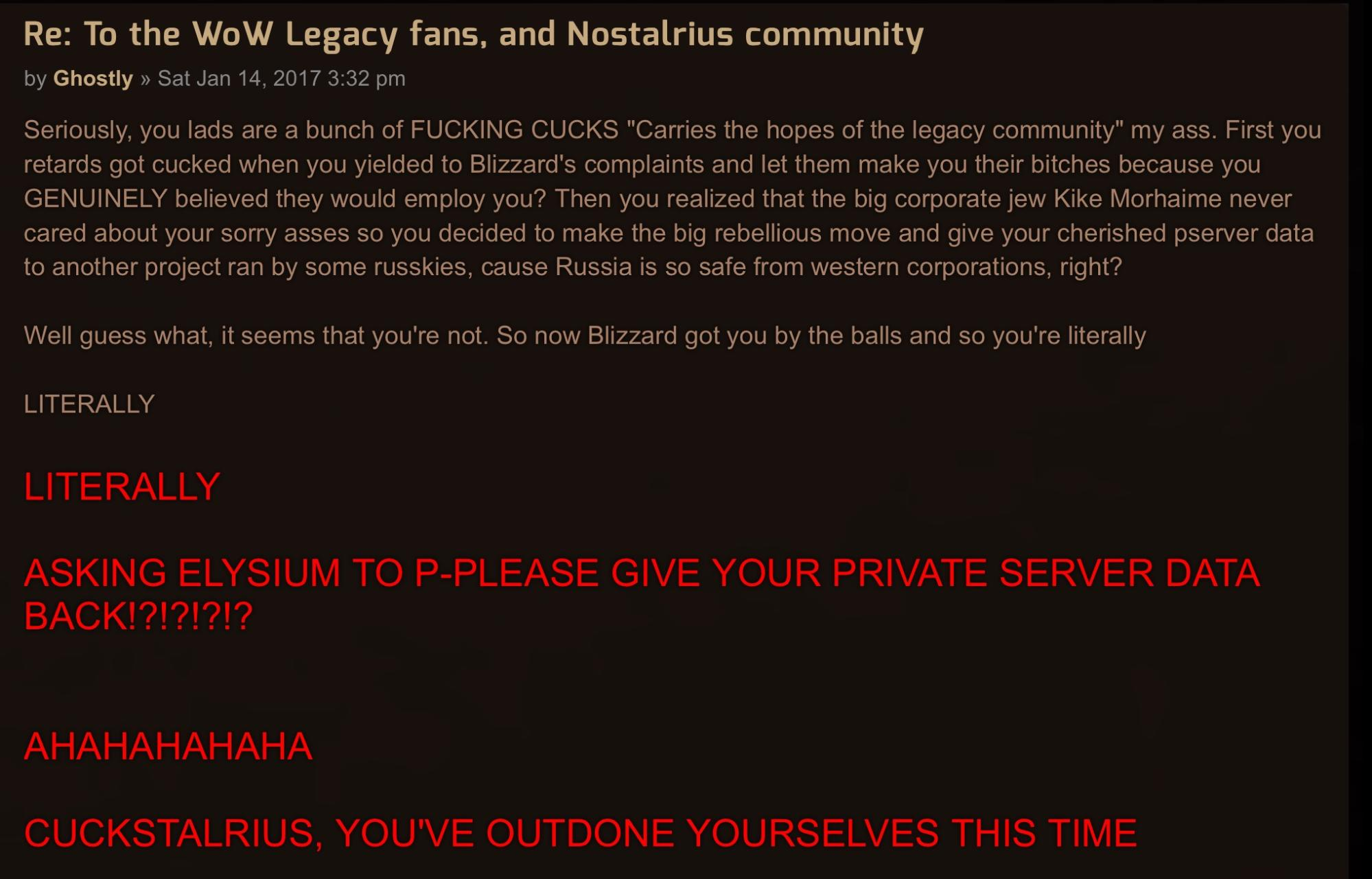 Illegal 'WoW' Server Asks Other Illegal 'WoW' Server to Shut Down - VICE