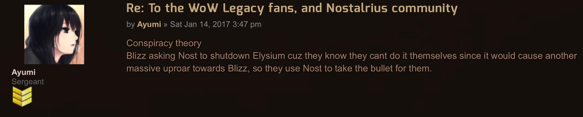 illegal wow server asks other illegal wow server to shut down