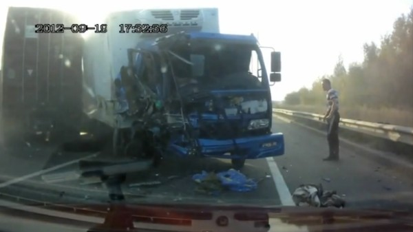 This Russian Truck Driver Should Be Dead