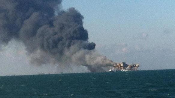 An Oil Rig Just Exploded in the Gulf of Mexico