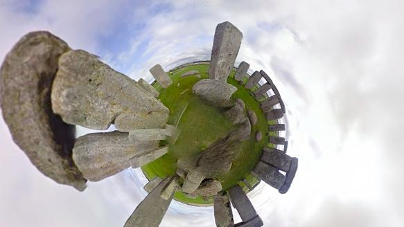 Streetview Stereographic is Warping Google Maps