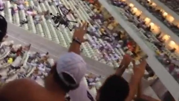 Watch This Brazilian Soccer Drone Go Haywire