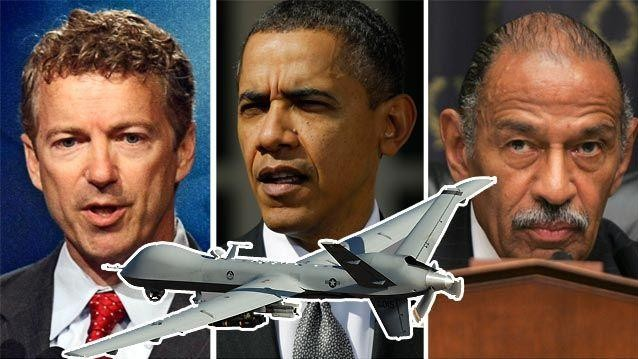 For Eight Minutes, John Conyers Stood with Rand Paul on Drones