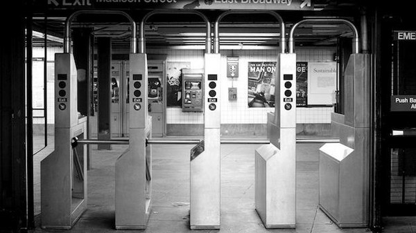 What Untold Thousands of New Yorkers Shuffling Through Turnstiles Looks LIke