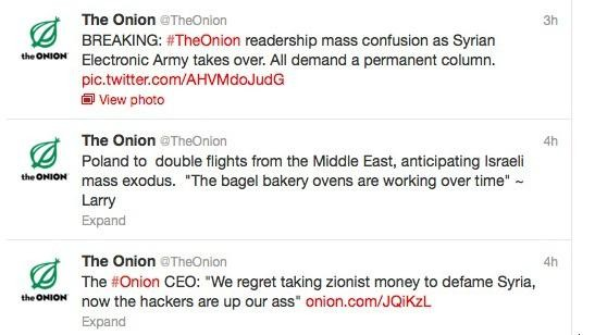 An Alleged Member of the Syrian Electronic Army Explains the Onion Twitter Hack