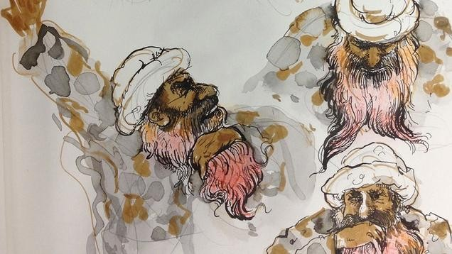 Illustrations from Inside Gitmo's Secretive Khalid Sheikh Mohammed Hearings