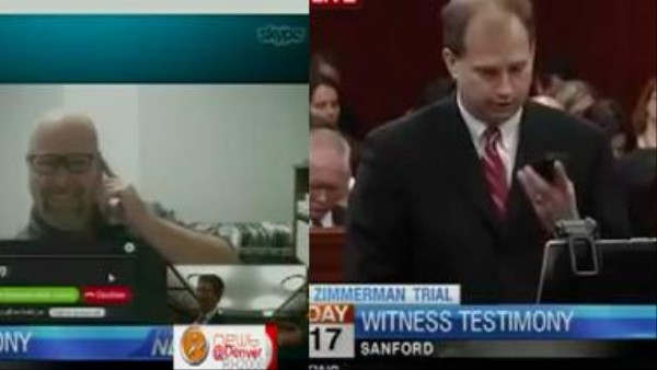 The Internet Trolled the Skype Testimony of a Witness in the Zimmerman Trial