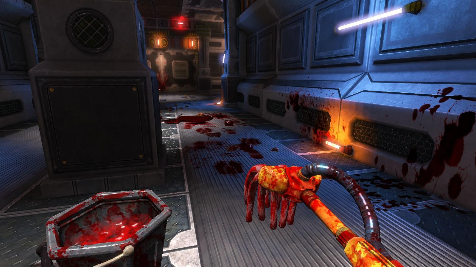 In 'Viscera Cleanup Detail' maak je de troep schoon die achterblijft in een first person shooter