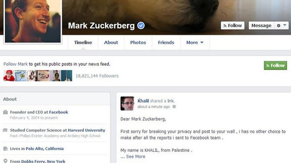 Facebook Is Refusing to Pay a Bug Bounty to the Researcher Who Hacked Zuck