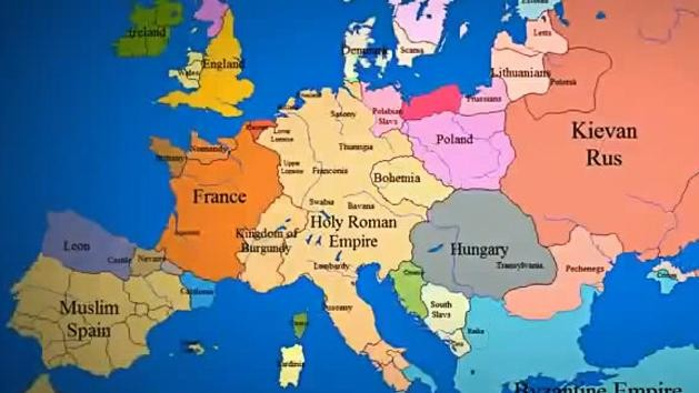 Watch a Millennium of European History at Internet Speed