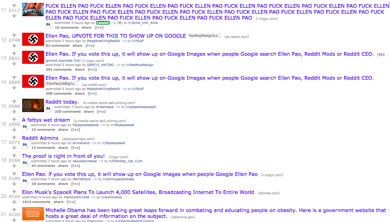 Right Now, Reddit's Top Posts Are Swastikas, Fat Shaming, and Ellen