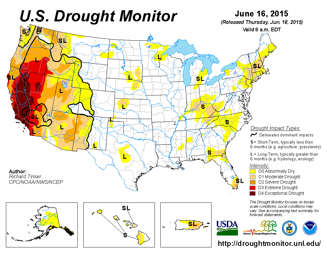 Will El Niño Save The Western US From Wildfire Hell Motherboard - Us drought map forecast
