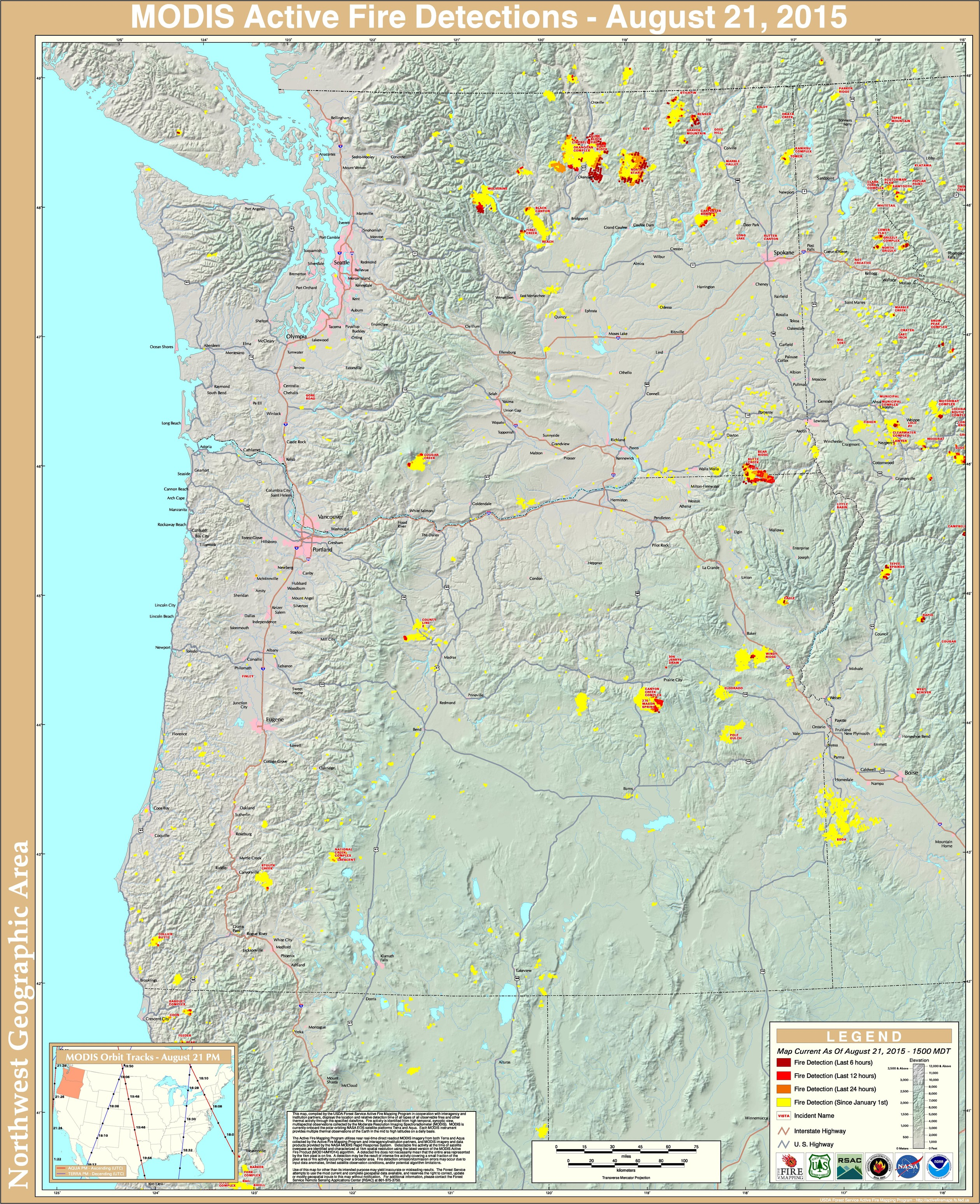 The Current PacificNorthwest Wildfire Map is Fucking Terrifying