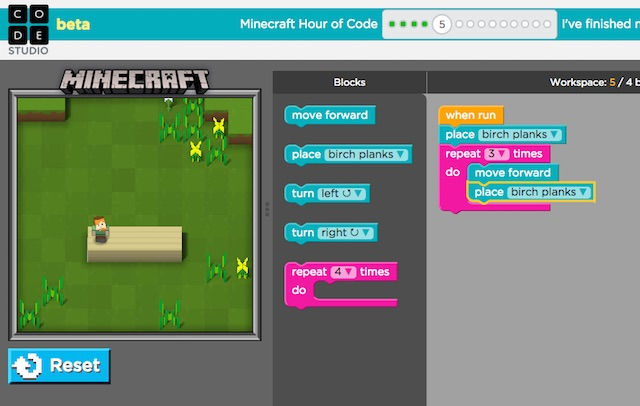 Code Builder for Minecraft: Education Edition
