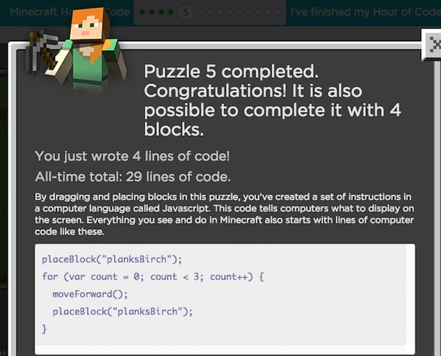 Working sample code for the basic concepts in Minecraft ...