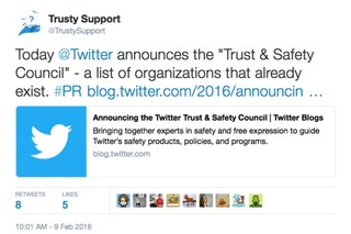 Twitter Announces Safety Panel Then Bans an Account Critical