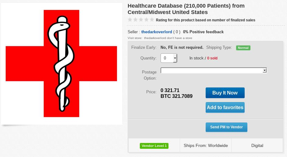 Hacker Puts Up for Sale 9.3 Million Records from Healthcare Insurance Company