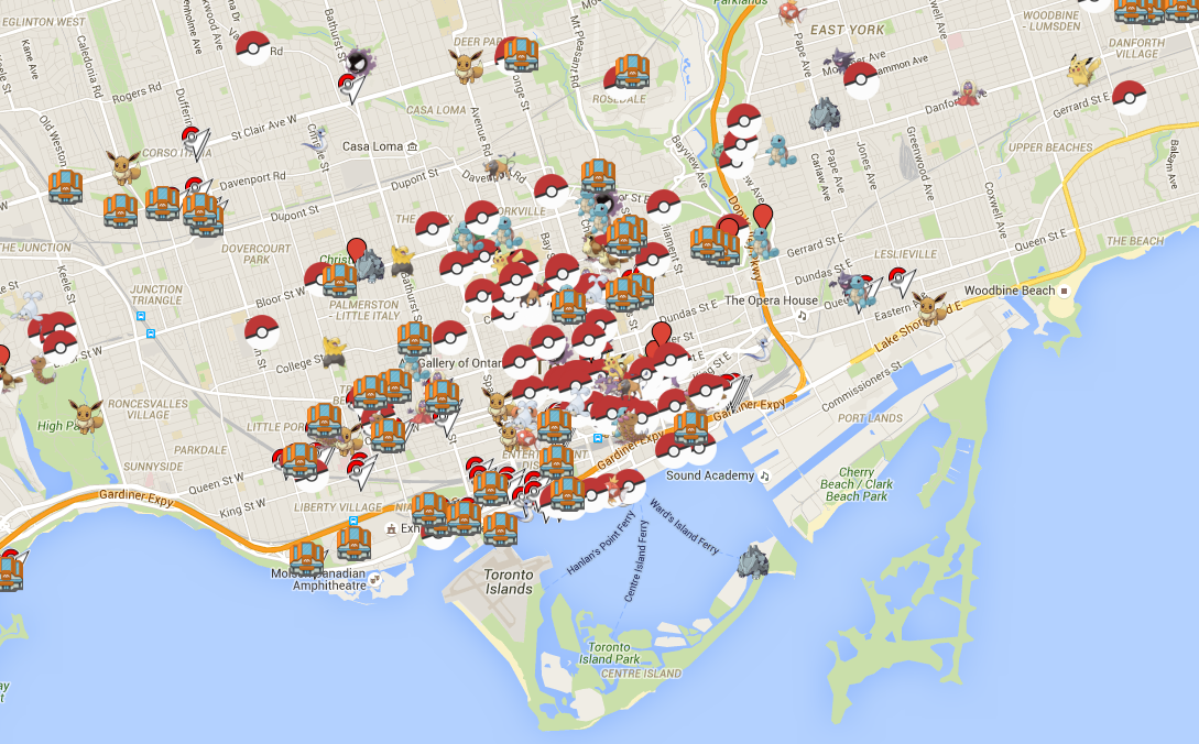 Heres A Crowdsourced Map Of Where To Find The Best Pokémon In - Pokemon go live map for us