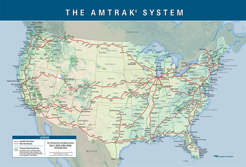 What The Future Of American Train Travel Will Actually Look Like - Map of us train routes