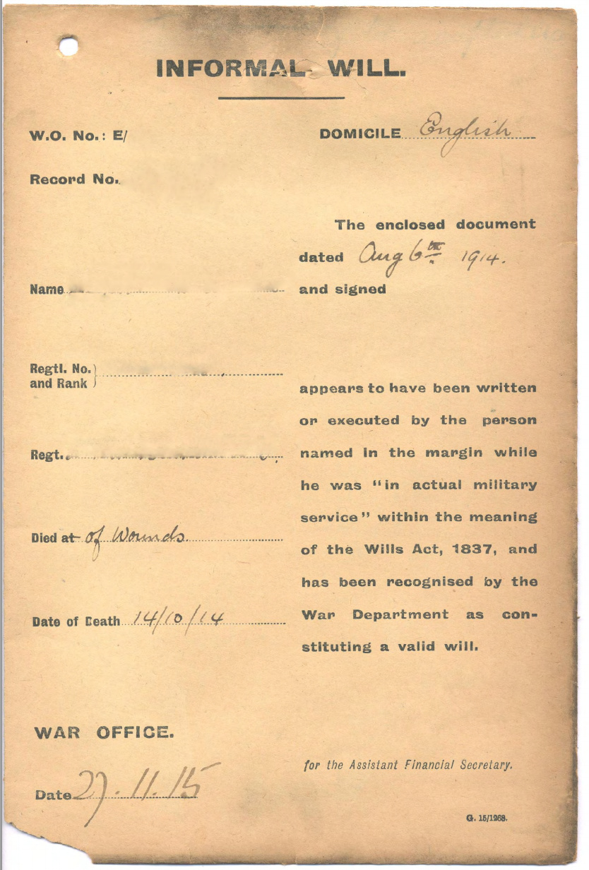 Soldiers Last Letter.Thousands Of Wwi Soldiers Last Wills And Letters Home Are